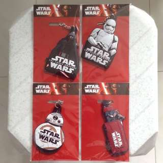 Star Wars The Force Awakens Subway Limited Edition Keychain Complete Set of 4