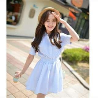 Pastel Blue Stripe Dress