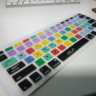 %%%SOLD OUT%%%%For MACBOOK!  ADOBE ILLUSTRT. & PHOTOSHOP KEYBOARD SHORTCUT SILICONE KEYBOARD COVER
