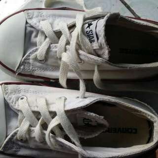 Converse White Rubber Shoes For Kids.