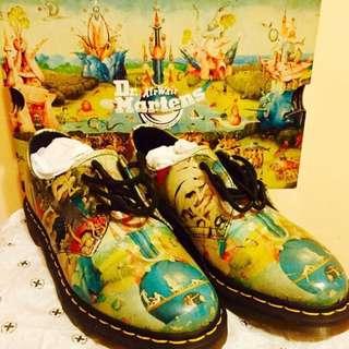 dr martens 馬汀鞋 皮鞋 彩繪鞋