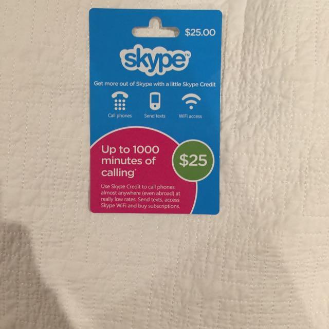 $25 Skype Credit