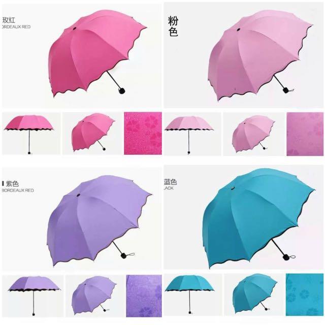 ☔️變色折疊🌂現貨蝦皮含運💟療癒變色雨傘☔️