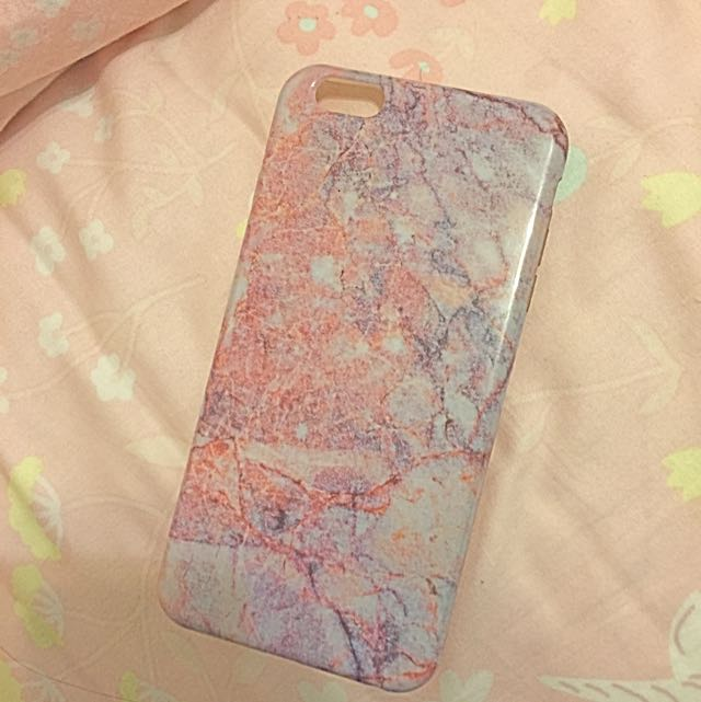 粉色大理石手機殼 I6plus