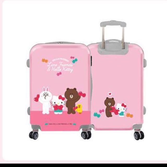 全新 Line Friends X Hello Kitty 24吋行李箱