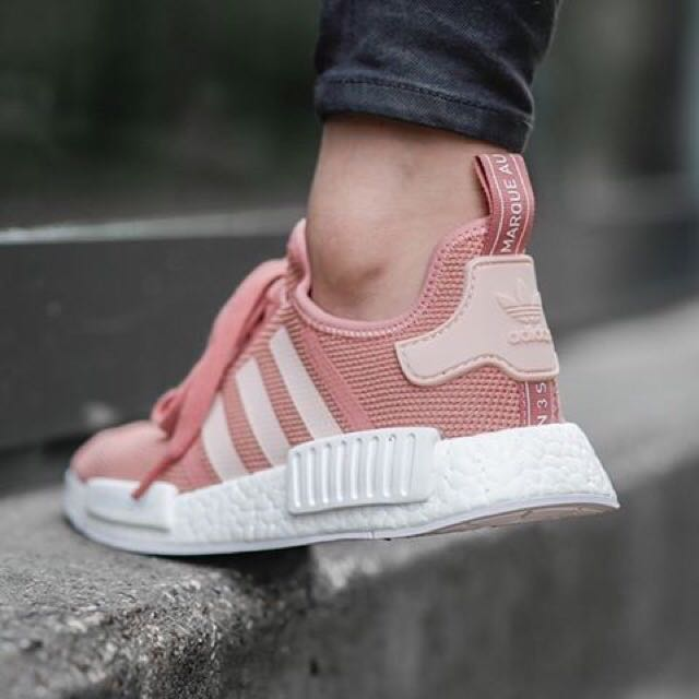 premium selection 5efa8 8bd81 Adidas NMD R1 mesh Raw Pink (Salmon), Sports on Carousell