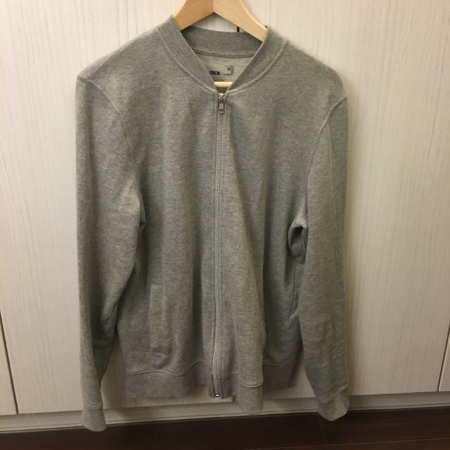 Asos灰色棉外套