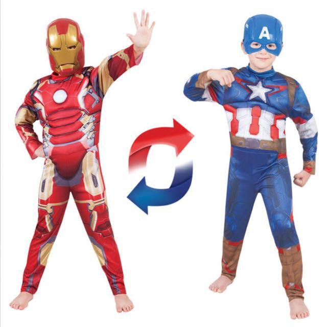 Avengers Dual Deluxe Suit Size 4-6