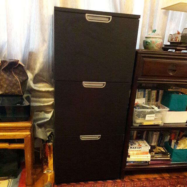 Black IKEA Filing Cabinet