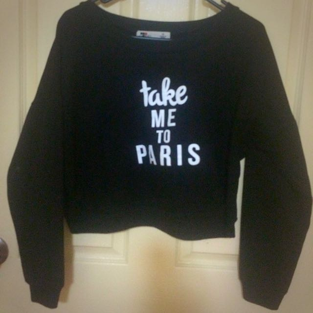 Black Shirt Take Me To Paris