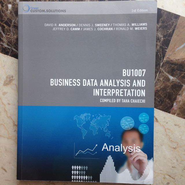 BU1007 Business Data Analysis And Interpretation