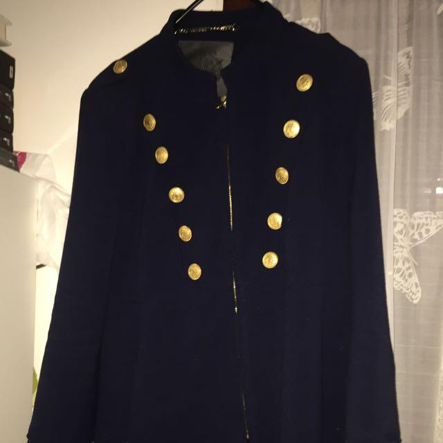 Forever New Military Coat Siz 16