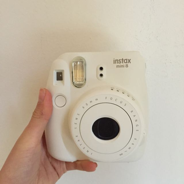 Fujifilm White Polaroid Camera