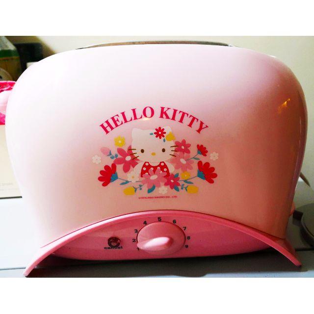 可愛的粉色HELLO KITTY烤麵包機,九成新