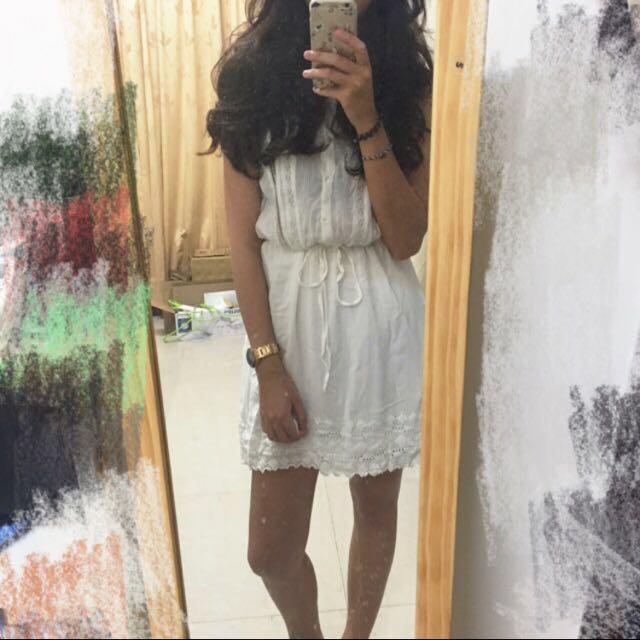 H&M 蕾絲抽繩洋裝