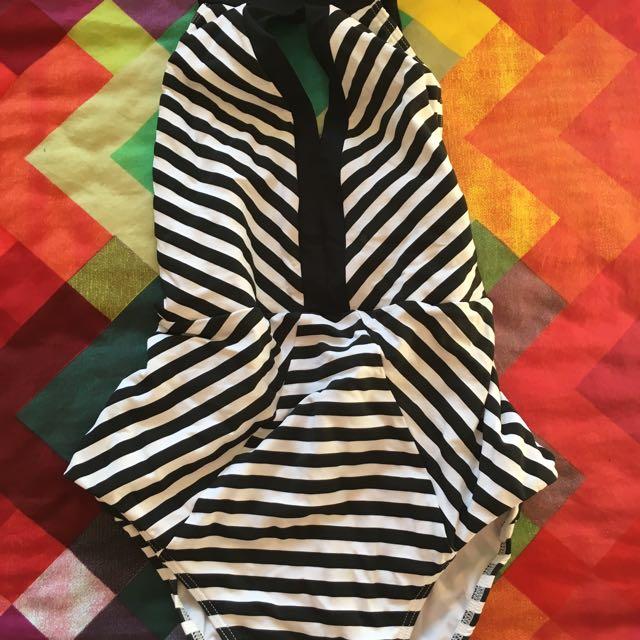 Jets Jessika Allen Striped Swimsuit