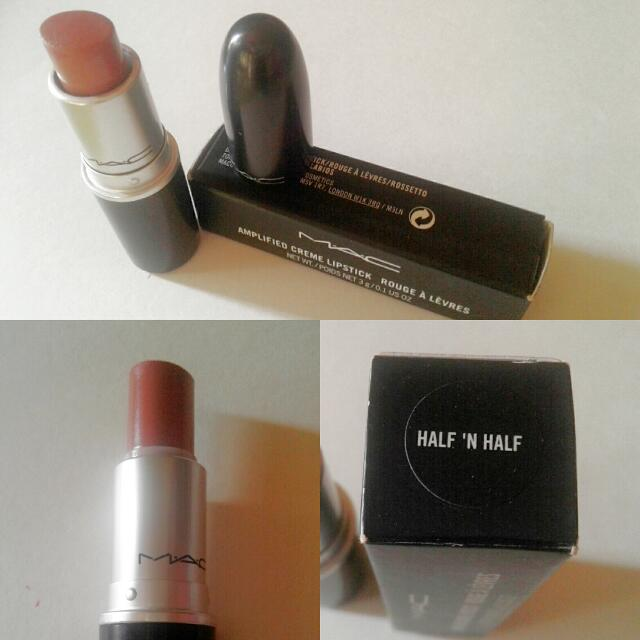 MAC lippies in HALF N' HALF