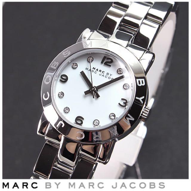 Marc by marc jacobs 小馬克 mbm3055 小錶 女錶 女朋友 生日 禮物 鋼錶 銀色 原廠  正品 正貨