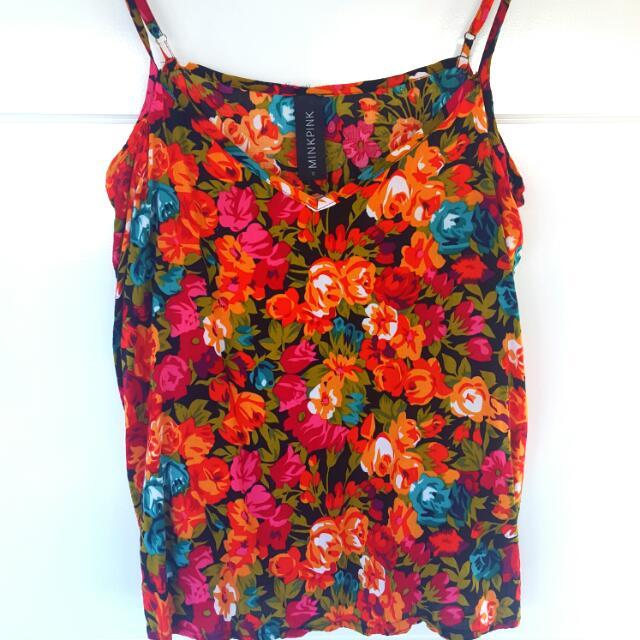 Minkpink Size 10 Floral Singlet