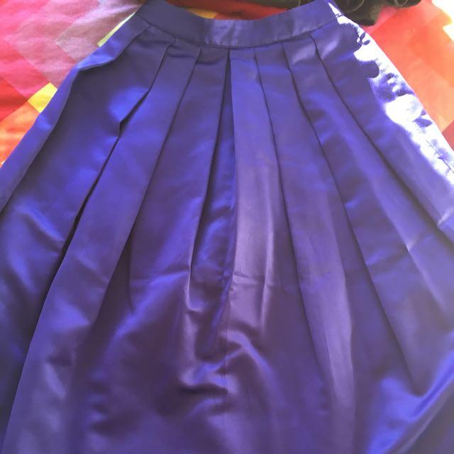 Portmans Deep Blue 50s Style Tea Skirt