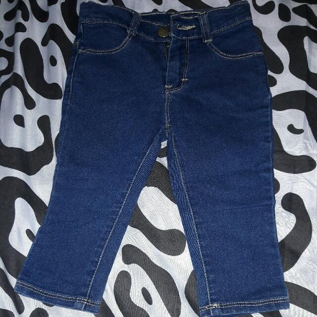 Pre loved Skinny Jeans for Baby (adjustable waist)