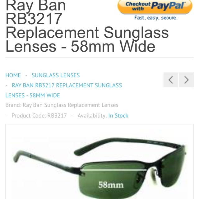 8e477801d3 Ray Ban Sunglasses RB3217
