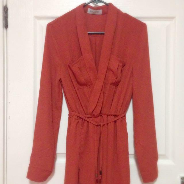 Red/ Orange Long Dress
