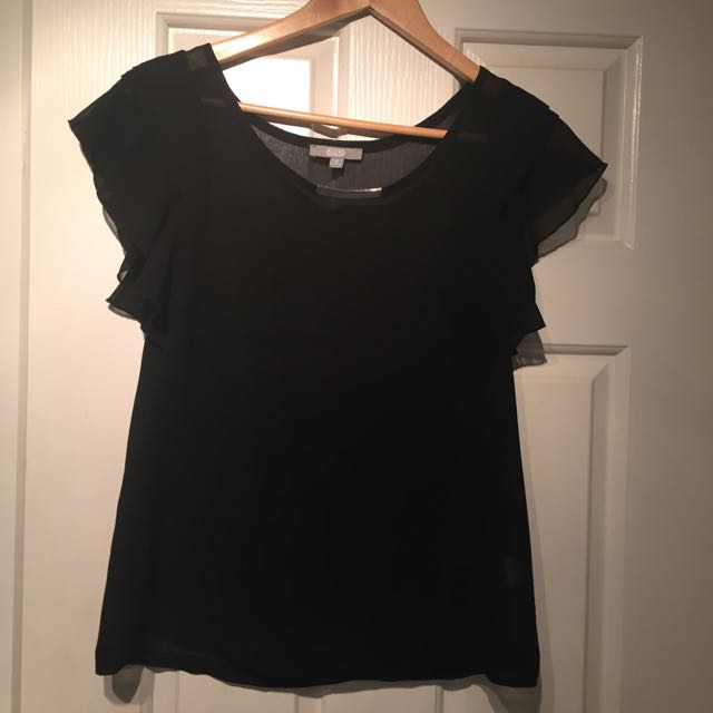 Sheer Black Top | Size 10