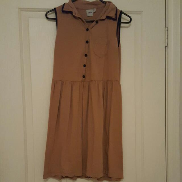 Tan Coloured ASOS Dress