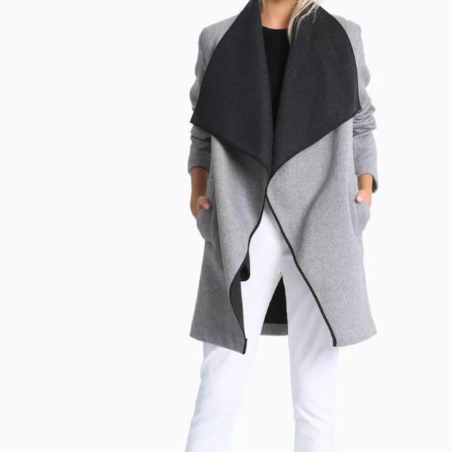 Tokito Double Faced Melton Wrap Coat Grey