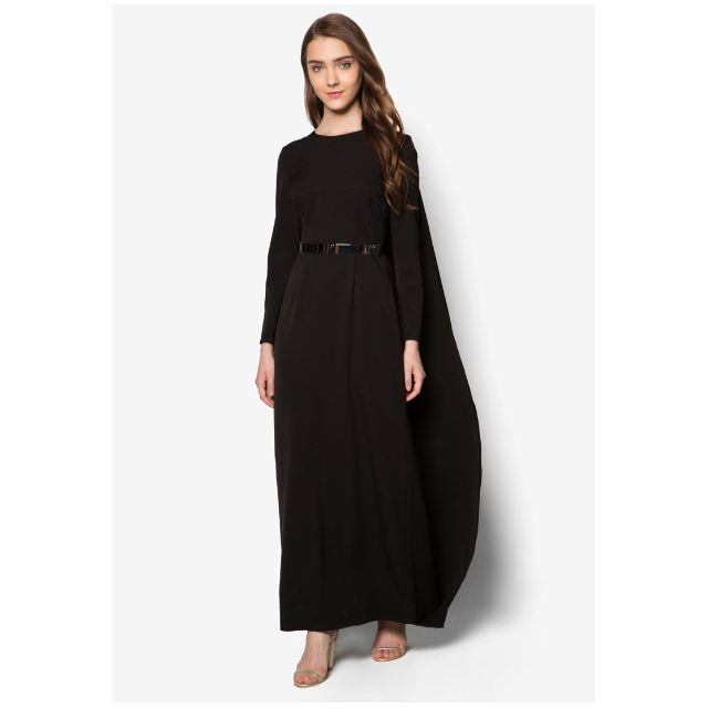 ff3ff9c7fc Zalia Long Cape Maxi Dress