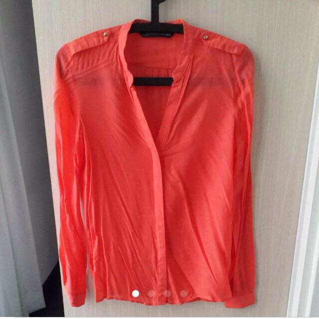 Zara Woman Orange Blouse