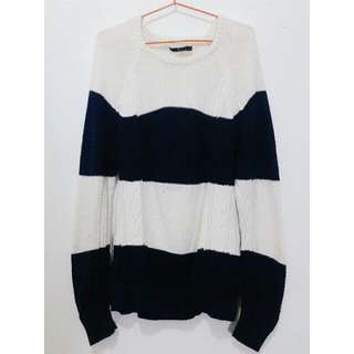 REPRICED! THE EXECUTIVE - STRIPPED SWEATER