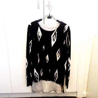 SASS AND BIDE Black Knit Top (Long Sleeve)