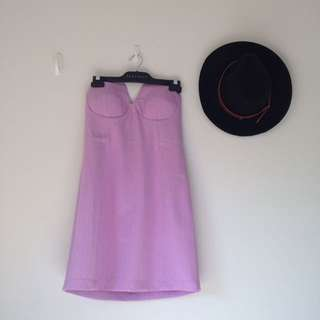 Noughts And Crosses Purple Strapless Dress