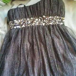 Gorgeous Black And Silver Dress