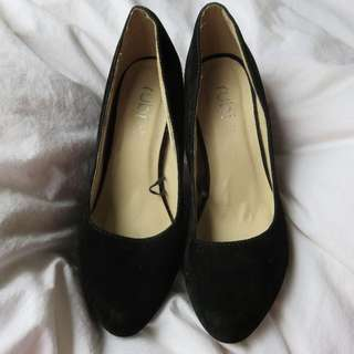 Size 5 (36) Black Felt HighHeels