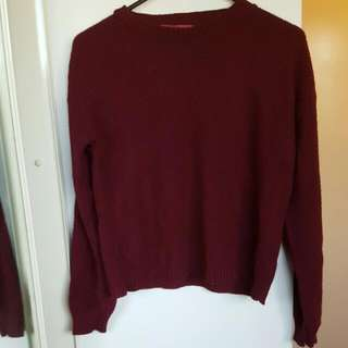 Cropped Maroon Jumper