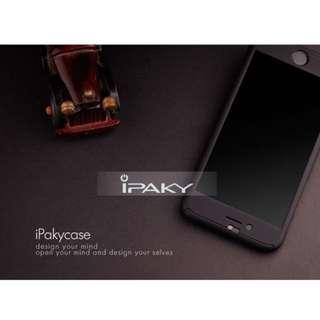IPHONE6/6s360度全包覆手機殼 送鋼化膜