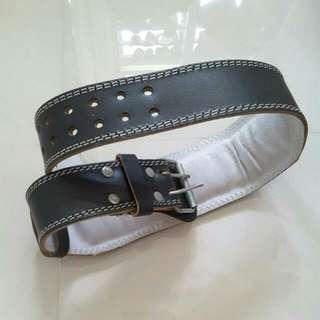 [Leaving Singapore Sale] Gym Leather Belt L