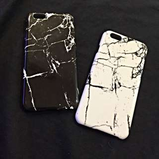 Iphone6/6s大理石手機殼 硬殼 黑/白 木紋軟殼
