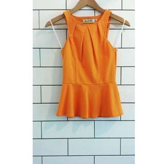 SunnyGirl Orange Peplum Top