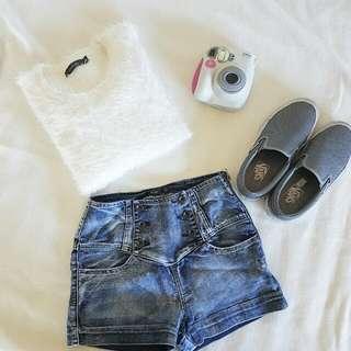 Fluffy White Knit