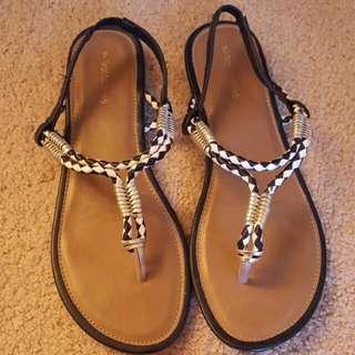 Size 9 Aztec Sandals