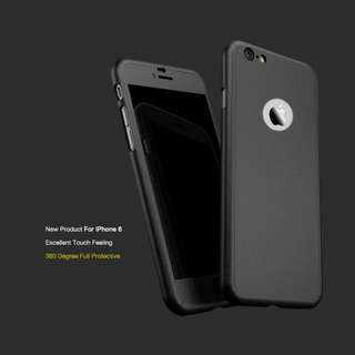 iPhone 6Plus 360 Degree Full Protective Cover Casing (Black)
