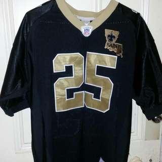 NFL New Orleans Saints Reebok Jersey Shirt #25 Reggie Bush Size Men's 50