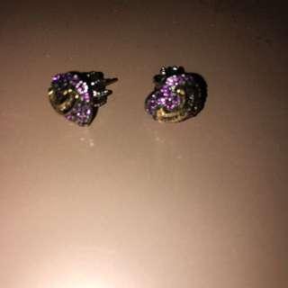 Juicy Couture Heart Pendant Earrings