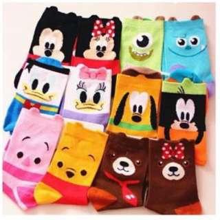 超可愛 迪士尼卡通襪