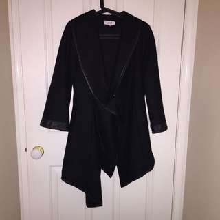 Black Winter Coat - Size 8