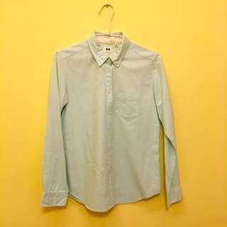 Uniqlo 藍白相混襯衫